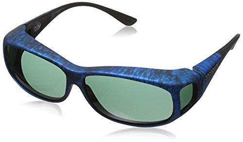Sunglasses Ink Frame (Cocoons Mini Slim MS Rectangular Polarized Sunglasses,Ink Frame & Gray Lens,59)