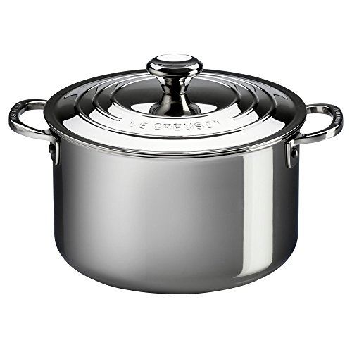 (Le Creuset Tri-Ply Stainless Steel Casserole with Lid, 4-Quart)