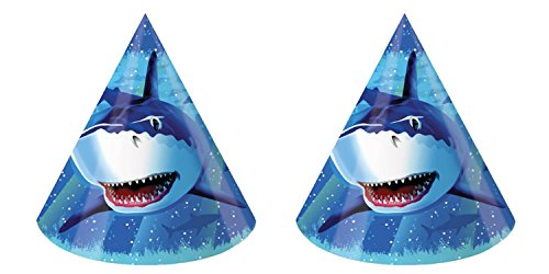 Creative Converting, 8-Count Birthday Party Hats, Shark Splash (2 ()