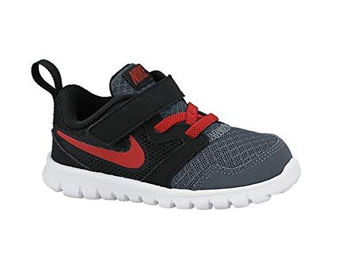 Jongens Nike Flex Experience 3 Sportschoen Donkergrijs / Zwart / Wit / Gym Rood