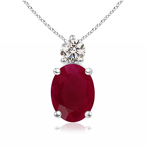 Solitaire-Natural-Ruby-and-Diamond-Pendant-Necklace