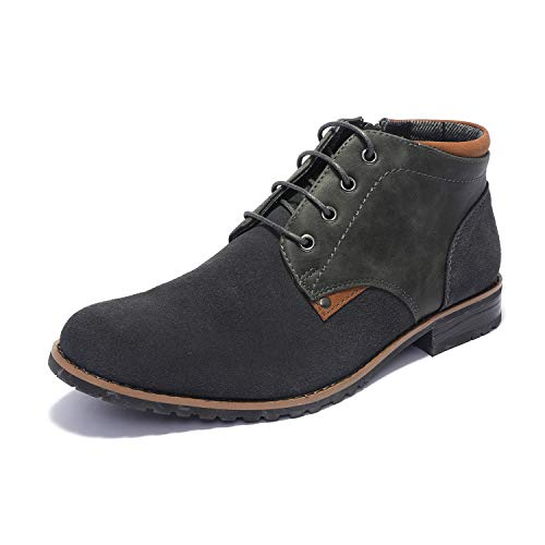 Bruno Marc Men's Dress Chukka Boots Adam_H2 Grey Size 11 M US