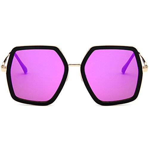 Women 2018 New Colorful Polygon Large Frame Sunglasses- Protection Goggles Outdoor Glasses- - UV 400 Protection 60MM - Goggles New Stylish