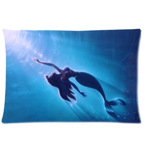 Cartoon Cute The Little Mermaid Underwater World Sunlight Custom Design Pillowcase Pillow Sham Queen Size Pillow Cushion Case Cover Two Sides Printed 20x30 Inches (Little Underwater Lights)