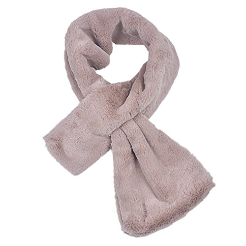 Rancco Winter Thick Warm Scarf, Extreme Soft Furry Fleece Neck Warmer Loop Scarves for Kid/Women