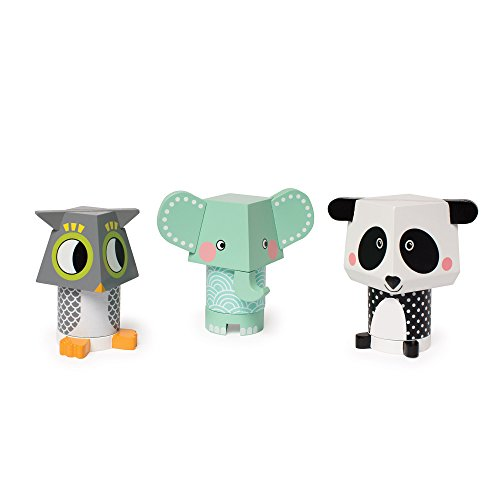 Elephant Stacking Toy (Manhattan Toy Mix & Match Owl, Elephant & Panda Magnetic Wooden Stacking Block Toy Set Baby)