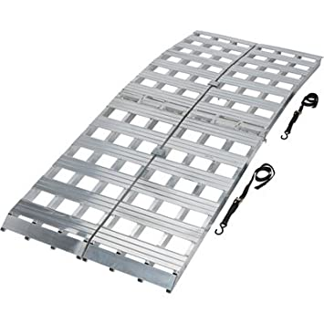 Aluminum Folding Ramps >> Ultra Tow Bi Fold Arched Aluminum Loading Ramp Set 3000 Lb Capacity 8ft L