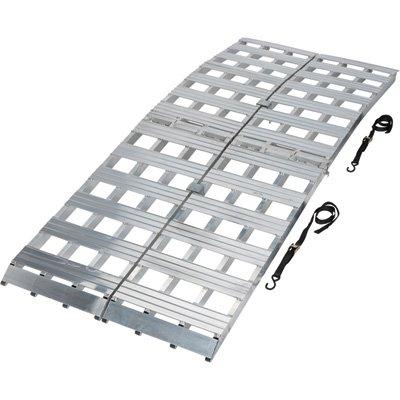 Aluminum Folding Ramps >> Amazon Com Ultra Tow Bi Fold Arched Aluminum Loading Ramp Set