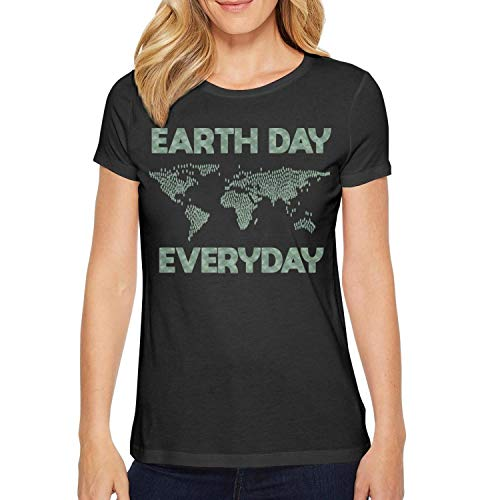 (Everyday Earth Day 2018 Young Women Personalized Comfortable Breathable Cotton Casual T-Shirts)