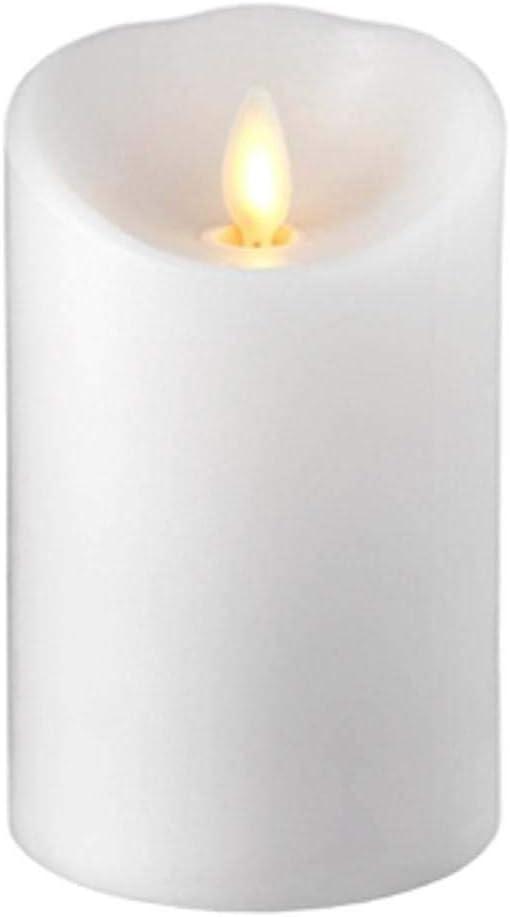 RAZ IMPORTS INC Push Flame Flameless Battery Operated LED Pillar Candle White 3