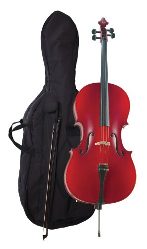 Becker 375F Prelude Cello Outfit 1/4, Red-Brown Satin Finish by Becker