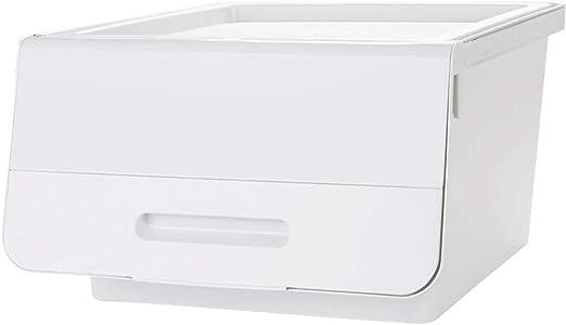 Pinjeer Gran Caja de Almacenamiento superpuesta de plástico con ...