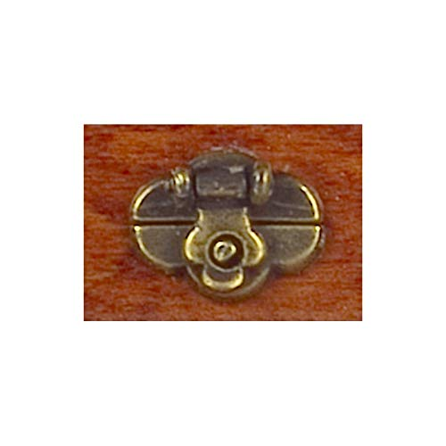 - Dollhouse Miniature Trunk Lock/Antique Brass