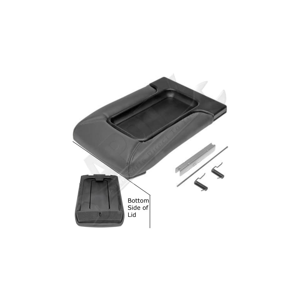 APDTY 035922 Center Console Compartment Lid / Leather Armrest Replacement Kit   Dark Gray / Pewter Color For 2001 2006 Escalade, Avalanche, Silverado, Sierra, Suburban, Tahoe, Yukon (Replaces 19127364)