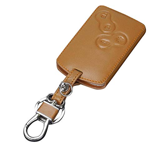 ZGSDYST Stylish Genuine Leather 4 Buttons Car Remote Key Cover Case for Renault Koleos Key Wallet Key Organizer Porte Clef Mignon New