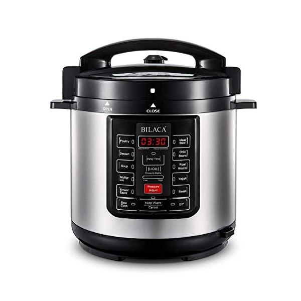 Electric Pressure Cooker,BILACA 6 Qt 9-in-1 Multi Programmable Pressure Cooker,Slow Cooker,Rice Cooker,Steamer,Yogurt… 2