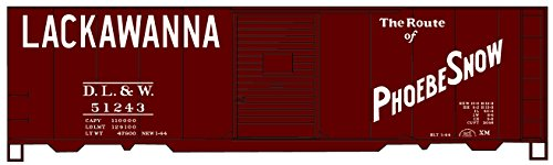 Accurail 35279 HO Scale KIT 40 FT AAR Single Door Boxcar - Lackawanna - Lackawanna Boxcar