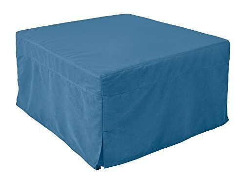 Nova Furniture Group Magical Ottoman Sleeper With Microfiber Slip Cover, Blue - Microfiber Sleeper