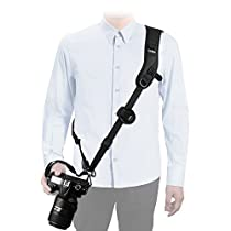 Tycka Camera Shoulder Neck Strap, Top-level protection to Camera, good for wedding shoot, activity, wildlife or journey; Anti-Slip and Durable, equipped with Quick Release Plate and Safety Tether