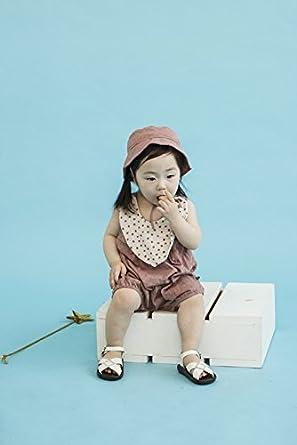 Vaenait Baby Newborn Infant Baby Sleeveless Bodysuit with Hat Nicola Brown