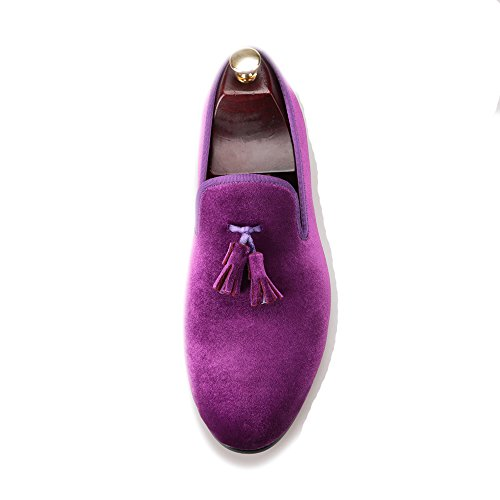 Salut & Hann Gland Velours Mocassin Chaussures Mocassins Slip-on Mocassins Bout Rond Smoking