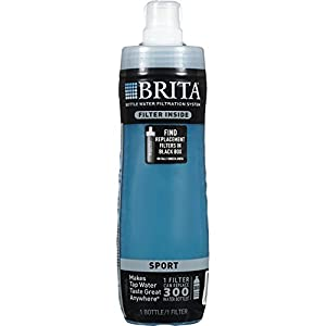 Brita 20 Ounce Sport Water Bottle with 1 Filter, BPA Free, Dark Turquoise