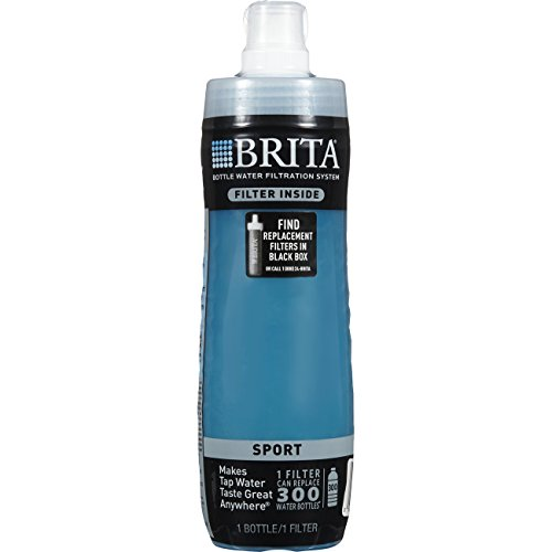 Brita 20 Ounce Sport Water Bottle with Filter - BPA Free - Blue