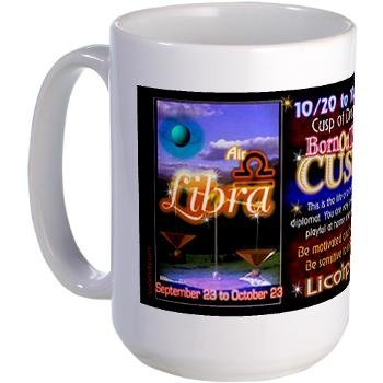 Amazon com | Valxart Libra-Scorpio Cusp Lg Mug 15 Oz Astrology Born