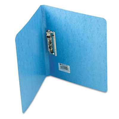 PRESSTEX Grip Punchless Binder With Spring-Action Clamp, 5/8'' Cap, Light Blue, Total 25 EA, Sold as 1 Carton