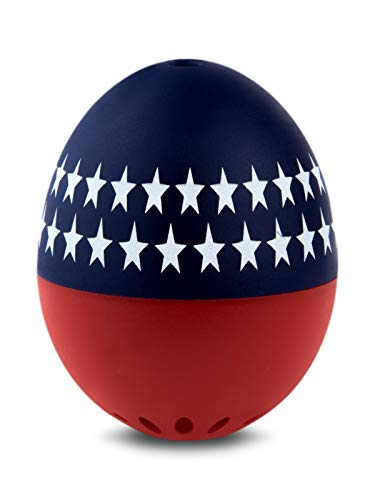 Brainstream BeepEgg Egg Timer, Edition, Cook Perfect Soft, Medium or Hard Boiled Eggs To Your Favorite Tunes Singing and Floating Egg Timer (Patriotic)