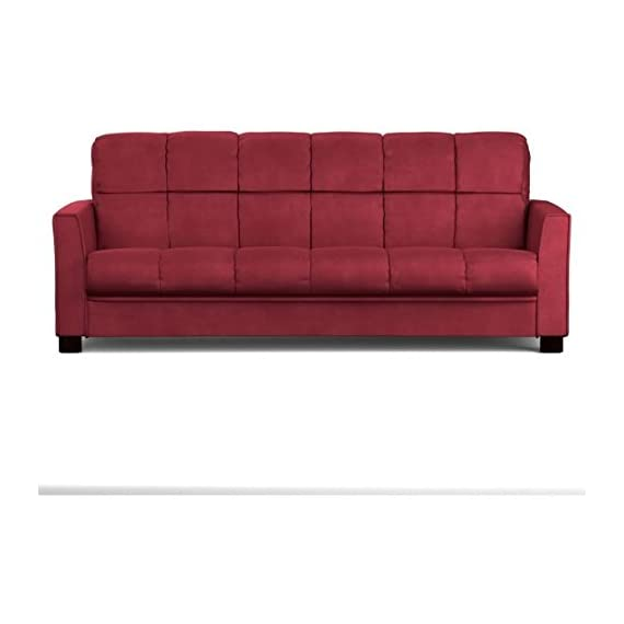 Baja Convert-a-couch Sofa Sleeper Bed Sofa Converts Into a Full-size Bed and Seats 3 Comfortably, Crimson Red -  - sofas-couches, living-room-furniture, living-room - 41klK7QJHAL. SS570  -