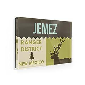 Imán para nevera Nacional nos bosque Jemez Ranger District–Neonblond