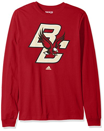 NCAA Boston College Eagles Adult men School Logo L/S Tee,2X-Large,Red