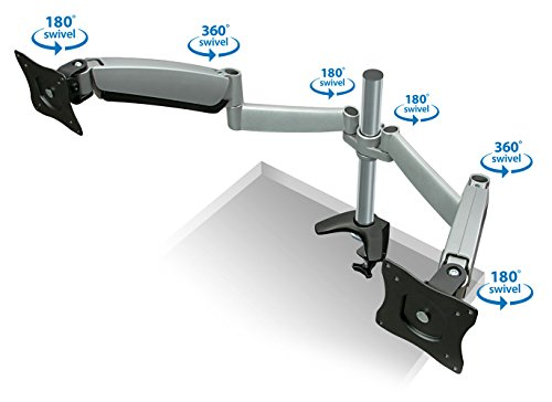 Mount It Monitor Desk Mount Dual Arm With Height