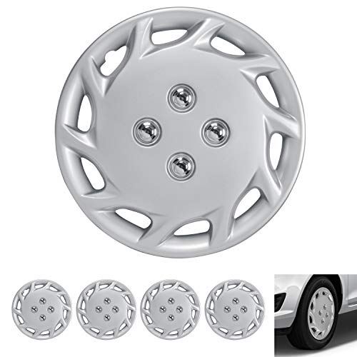 2000 Nissan Sentra Wheel - BDK Wheel Guards - (4 Pack) Hubcaps for Car Accessories Wheel Covers Snap Clip-On Auto Tire Rim Replacement for 14 inch Wheels 14
