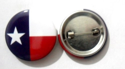 USA State Button Lapel Pin Flag United States New Tin Plate Badge Emblem (Texas/TX)
