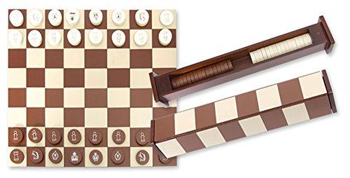 Ajedrez plegable 31 cm. Incluye fichas de ajedrez y damas.