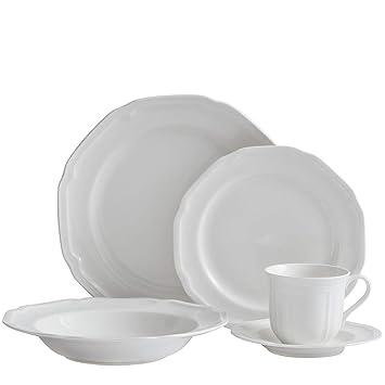 Mikasa 5224779 Antique White 40-Piece Dinnerware Set, Service for 8
