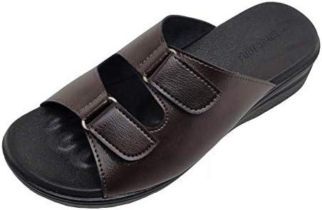 日本製 足指が広がる オフィス 外反母趾 サンダル 紳士用 フットスペース NEW FOOT SPACE ブラック チョコ