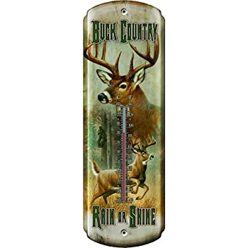"""/""""Red Horse Saloon/"""" Nostalgic Tin Thermometer by Rivers Edge Products"""
