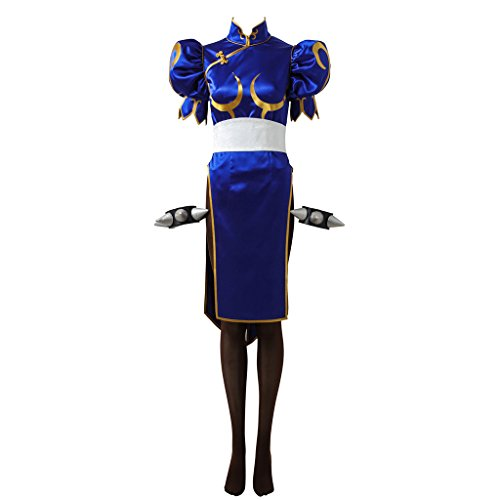 CosplayDiy Women's Dress for Street Fighter V Chun Li Cosplay Costume -