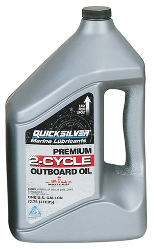 Quicksilver 2815Q1-3PK Premium 2-Cycle Outboard Oil - 1 Gallon Jug, (Case of 3)