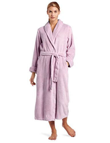 Casual Moments Women's 50 Inch Wrap with Set in Belt, Lavender, Large