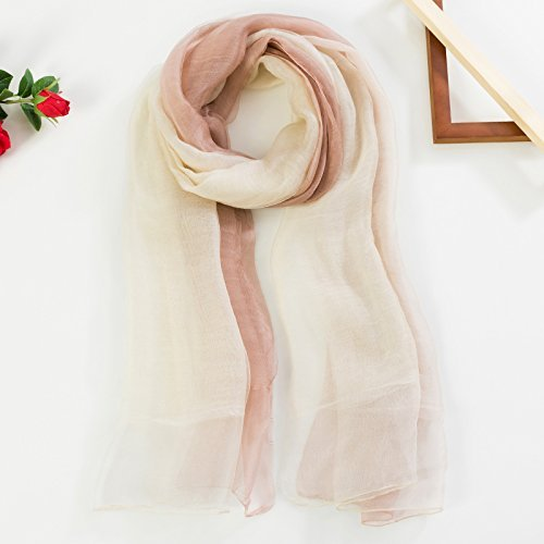 Beige card its SED ScarfDuring The Spring and Autumn Seasons and Versatile Scarves Gradient Silk Scarf Long Thin Woman Silk Scarf Winter Scarf Shawl DualUse Imitation Cashmere Scarf Female Autumn and Winter Kore