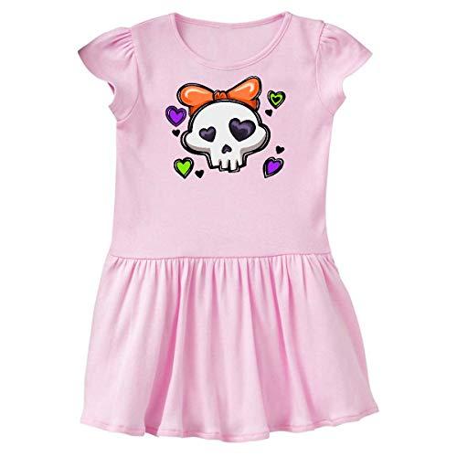 inktastic - Cute Halloween Skull Toddler Dress 4T Ballerina Pink 31e20]()