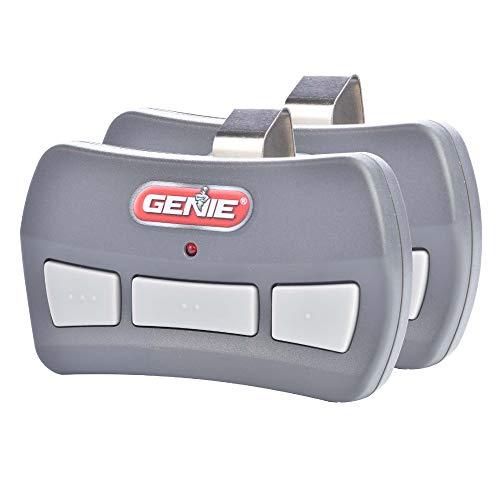 Genie 3-Button Garage Door Opener Remotes (2 Pack) - Each Remote Controls Up To 3 Garage Door Openers - Compatibility Only With Genie Intellicode Garage Door Openers Using 390MHZ - Model GITR-3