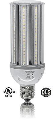 54W LED CORN LIGHT BULB 5500K Replaces 200W HID, Mogul Base E39, 100-277V AC UL DLC