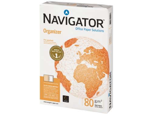Navigator Organizer Paper Ream-Wrapped 80gsm Punched 4-Hole A4 White Ref NAV0317FH [500 Sheets] -