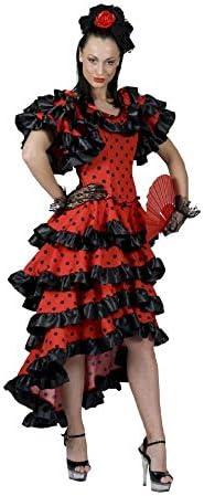 Española flamenco bailarina disfraz españa vestido de baile carnaval carnaval 36-48