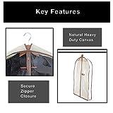 Smart Design Canvas Gusseted Suit Garment Bag